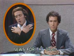 Alan Zweibel (with Chevy Chase) in 'Saturday Night Live' (Jan. 17, 1976)