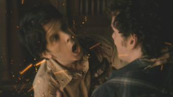 Christopher Mintz-Plasse (with Anton Yelchin) in 'Fright Night' (2011)