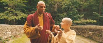 Damon Gupton (with Noah Ringer) in 'The Last Airbender'