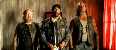 Dean Delray (left) with Michael Beach (center) and Michael Maceckso (right) in 'Hell Ride'