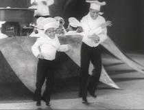 Harold Nicholas (left) with Fayard Nicholas (right) in 'Pie Pie Blackbird'