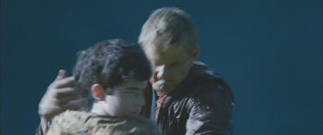 Ian Nelson (with Alexander Ludwig) in 'The Hunger Games'
