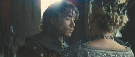 Jamie Blackley (with Charlize Theron) in 'Snow White and the Huntsman'