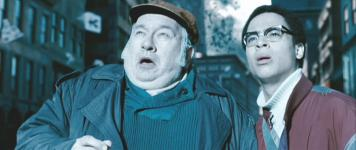 Jay Brazeau (left) with Jesse Reid (right) in 'Watchmen'