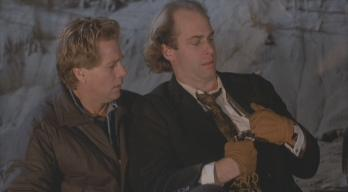 John Bedford Lloyd (right) with Ryan O'Neal in 'Tough Guys Don't Dance'