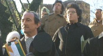 Larry Cohen (background center) in 'God Told Me To'