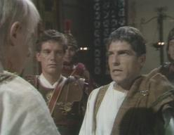 Lyndon Brook (right) before his off-screen death in 'I, Claudius'