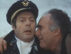 Marcello Mastroianni (left) with Michel Piccoli (right) in 'La Grande bouffe'