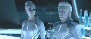 Michael Sheen (with Beau Garrett) in 'Tron: Legacy'