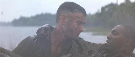 Mykelti Williamson with Tom Hanks in 'Forrest Gump'