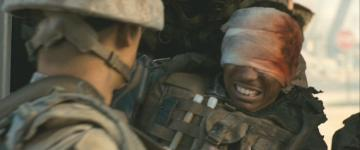 Neil Brown Jr. (right) in 'Battle: Los Angeles'