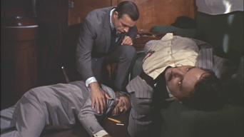 Peter Bayliss (right) with Sean Connery and Pedro Armendariz in 'From Russia with Love'