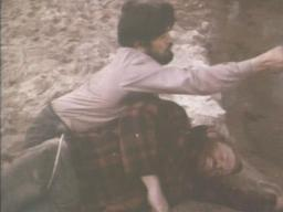 Rick Nervick (on ground) with Don Henley (no, not THAT Don Henley) in 'Cry Blood, Apache'