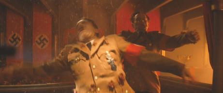 Sylvester Groth (right) with Martin Wuttke (left) in 'Inglourious Basterds'