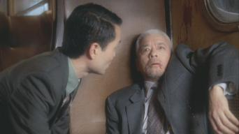 Togo Igawa (right) with Takatsuna Muka (left) in 'Night Train'