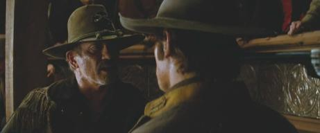 Tom Wopat (left) with Josh Brolin (right), shortly before his death in 'Jonah Hex'