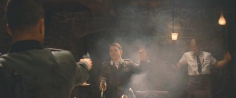 Volker Michalowski (center) in 'Inglourious Basterds'