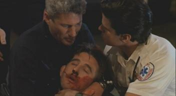William Baldwin (with Richard Gere and paramedic) in 'Internal Affairs'